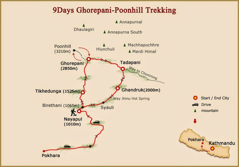Ghorepani-Poon-hill-trekking-map